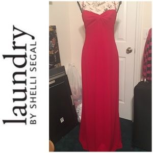 LAUNDRY BY SHELLI SEGAL Cherry Red Evening Gown